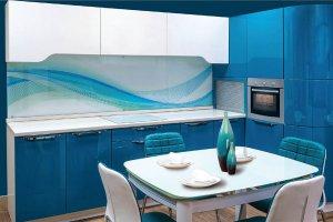 Угловая кухня Ника голубая - Мебельная фабрика «Rits»