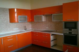 Угловая кухня оранжевого цвета - Мебельная фабрика «Арт Мебель»