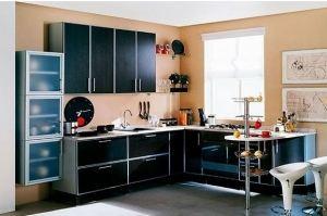 Угловая кухня Пальмира с барной стойкой - Мебельная фабрика «ЛиО»