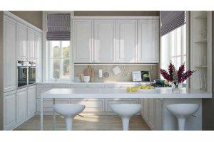 Угловая кухня Париж Глянец - Мебельная фабрика «Zuchel Kuche»
