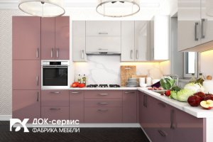 Угловая кухня пластик - Мебельная фабрика «ДОК-Сервис»