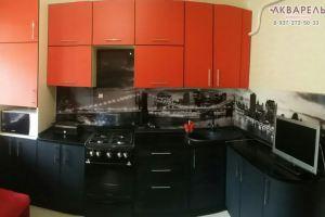Угловая кухня Пластик в кромке пвх - Мебельная фабрика «Акварель»