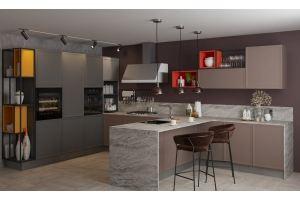 Угловая кухня  Ронда трюфель - Мебельная фабрика «GRETA»