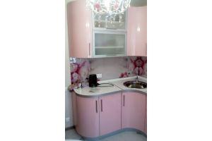 Угловая кухня розовая - Мебельная фабрика «КУХНИАРТ»