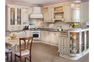 Угловая кухня с барной стойкой - Мебельная фабрика «Мебель-мастер»