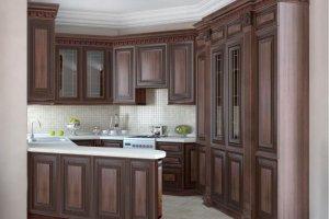Угловая кухня с буфетом - Мебельная фабрика «Mirati»