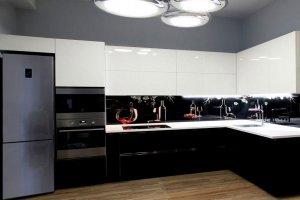 Угловая кухня с фотопечатью - Мебельная фабрика «Дельфин»
