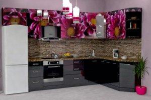Угловая кухня с фотопечатью - Мебельная фабрика «МЫ (ИП Золотухин С.В.)»