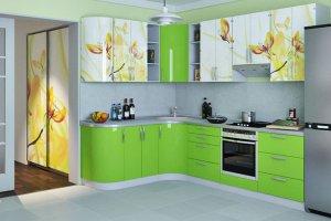 Угловая кухня с гнутым фасадом - Мебельная фабрика «ДОН-Мебель»