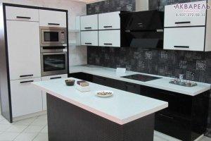 Угловая кухня с островом - Мебельная фабрика «Акварель»