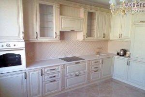 Угловая кухня с патиной - Мебельная фабрика «Акварель»