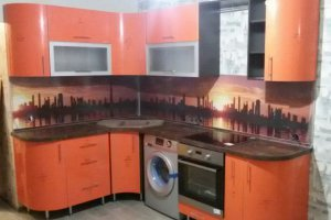 Угловая кухня с радиусными фасадами МДФ - Мебельная фабрика «Ваша мебель»