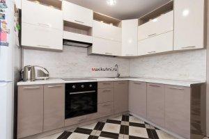 Угловая кухня Серый Блеск - Мебельная фабрика «MaxiКухни»