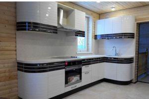 Угловая кухня шпон и эмаль - Мебельная фабрика «Эдельвейс»