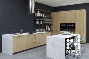 Угловая кухня со столом Денвер - Мебельная фабрика «Нео Кухни»