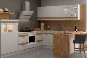 Угловая кухня София из массива дерева - Мебельная фабрика «Кухни Медынь»