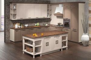Угловая Кухня Тория с островом - Мебельная фабрика «Кухни MIXX»