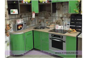 Угловая кухня в алюминиевой рамке - Мебельная фабрика «Buena»