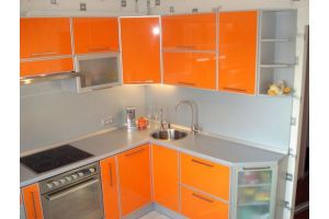 Угловая кухня в алюминиевой рамке - Мебельная фабрика «Ваша мебель»