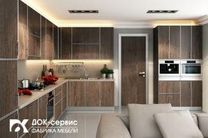 Угловая кухня в алюминиевой рамке - Мебельная фабрика «ДОК-Сервис»