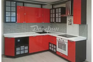 Угловая кухня в японском стиле - Мебельная фабрика «Дельфин»