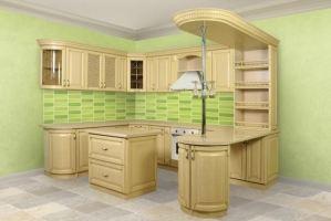 Угловая кухня ВЕНЕЦИЯ с барной стойкой - Мебельная фабрика «ШАД»