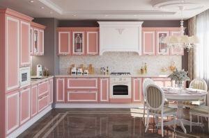 Угловая кухня Версаль коралловая - Мебельная фабрика «GRETA»