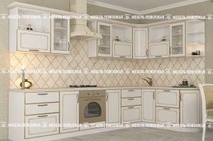 Угловая кухня Восторг МДФ - Мебельная фабрика «Мебель Поволжья»