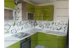 Угловая кухня Зеленая - Мебельная фабрика «Древека»