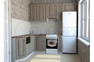Угловая маленькая кухня - Мебельная фабрика «Колорит»