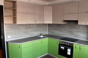 Угловая матовая кухня - Мебельная фабрика «Елиза»
