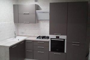 Угловая матовая кухня - Мебельная фабрика «ДЖАЗ»