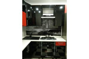 Угловая мини-кухня с каменной раковиной  - Мебельная фабрика «Ваша мебель»