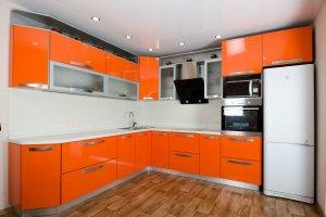 Угловая оранжевая кухня - Мебельная фабрика «Мебель +5»