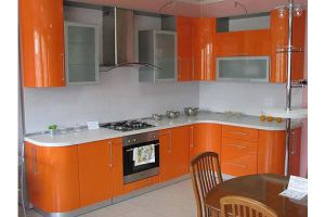 Угловая оранжевая кухня - Мебельная фабрика «Арт Мебель» г. Новосибирск