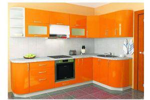 Угловая  оранжевая кухня 26 - Мебельная фабрика «Модерн»