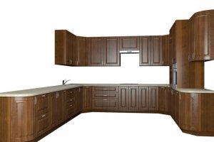 Угловая п-образная кухня Анжелика - Мебельная фабрика «Рамзес»
