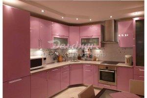 Угловая розовая кухня - Мебельная фабрика «Дельфин»