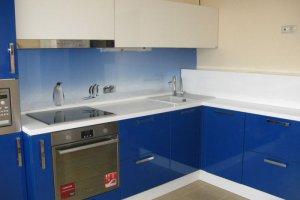 Угловая синяя кухня - Мебельная фабрика «Фаворит-Плюс», г. Москва