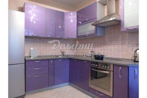 Угловая сиреневая кухня - Мебельная фабрика «Дельфин»