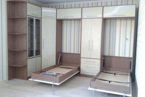Угловая стенка с двумя откидными кроватями - Мебельная фабрика «Удобна»