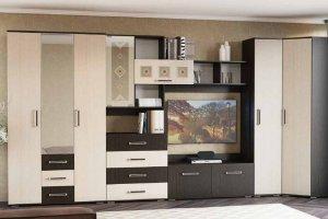 Угловая стенка в гостиную Белла 5.1 - Мебельная фабрика «РиИКМ»