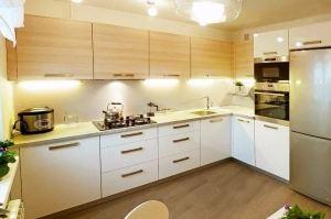 Угловая светлая кухня - Мебельная фабрика «ARC мебель»