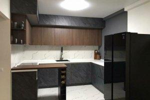Угловая темная кухня - Мебельная фабрика «Гранд Мебель 97»