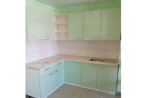 Угловая зеленая кухня - Мебельная фабрика «Эльф»