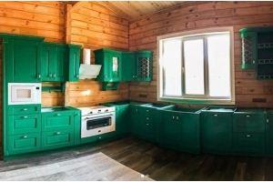 Угловая зеленая кухня - Мебельная фабрика «Массив»
