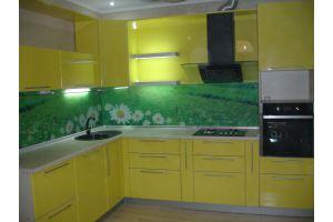 Угловая желтая кухня - Мебельная фабрика «ДОН-Мебель», г. Волгодонск