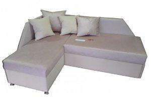Угловой белый диван Афродита - Мебельная фабрика «Джамбек-мебель»