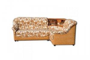 Угловой диван Агат с полкой и светильником - Мебельная фабрика «Шмит»