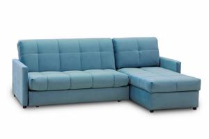 Угловой диван аккордеон 043 с оттоманкой - Мебельная фабрика «Rina»